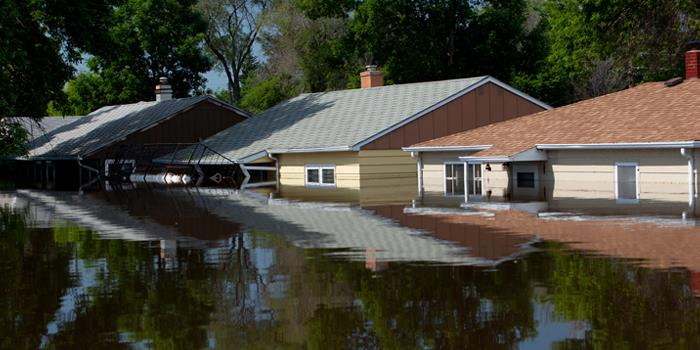 Image of Homes under flood water