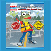 Flood Safety With Agua the Safe System Frog